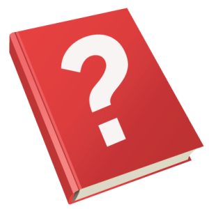 Blank-red-book-cover-question-mark